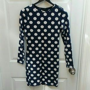 Topshop blue & white polka dot dress Size 6